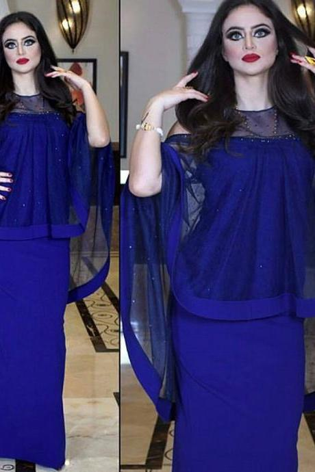 Dubai Caftan, Royal Blue Evening Dress, Long Evening Dress, Mermaid Evening Dress, Sexy Evening Dress, Elegant Evening Dress, Cheap Evening Dress, Muslim Evening Gown