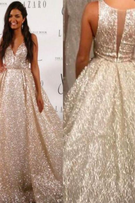 bling bling wedding dresses, 2017 wedding dresses, newest wedding dress, sequins bridal dresses, sheer wedding gowns, a line wedding dress, court train wedding gowns, sexy wedding dress, ivory wedding dress, shinning wedding dress